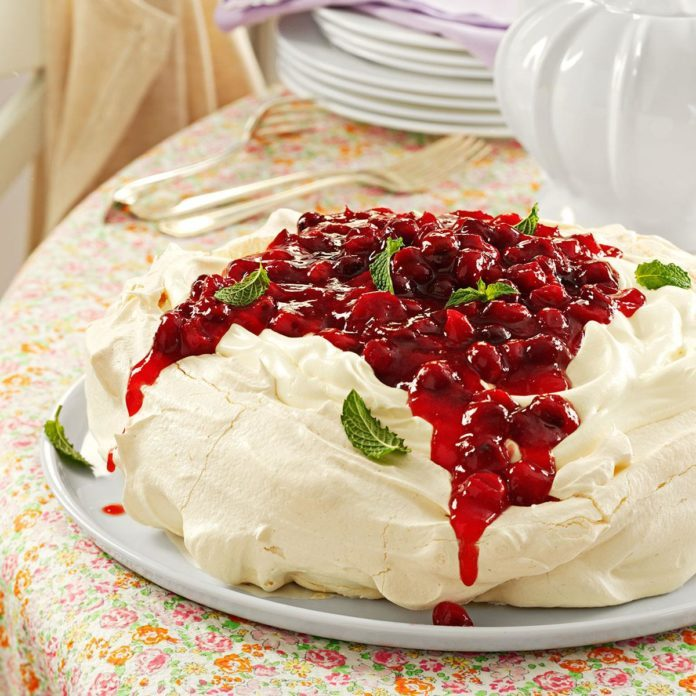 Cranberry Pavlova