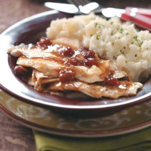 Cranberry Turkey Breast with Gravy