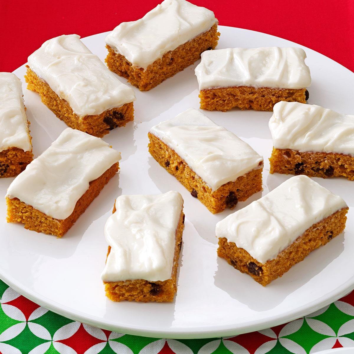 Pumpkin Dessert Bars Recipe: Cream Cheese Frosted Pumpkin Bars Recipe