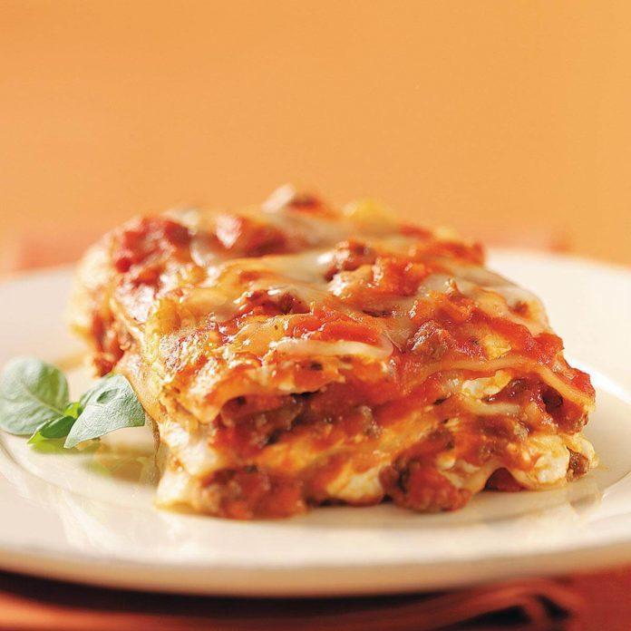 Cream Cheese and Swiss Lasagna