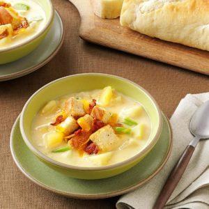 Cream of Potato & Cheddar Soup