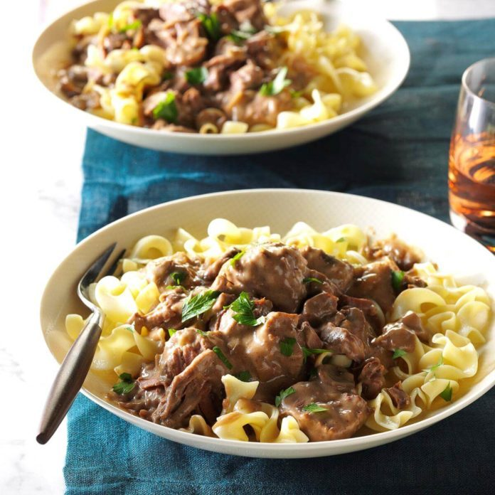 Creamy Celery Beef Stroganoff Recipe Taste Of Home