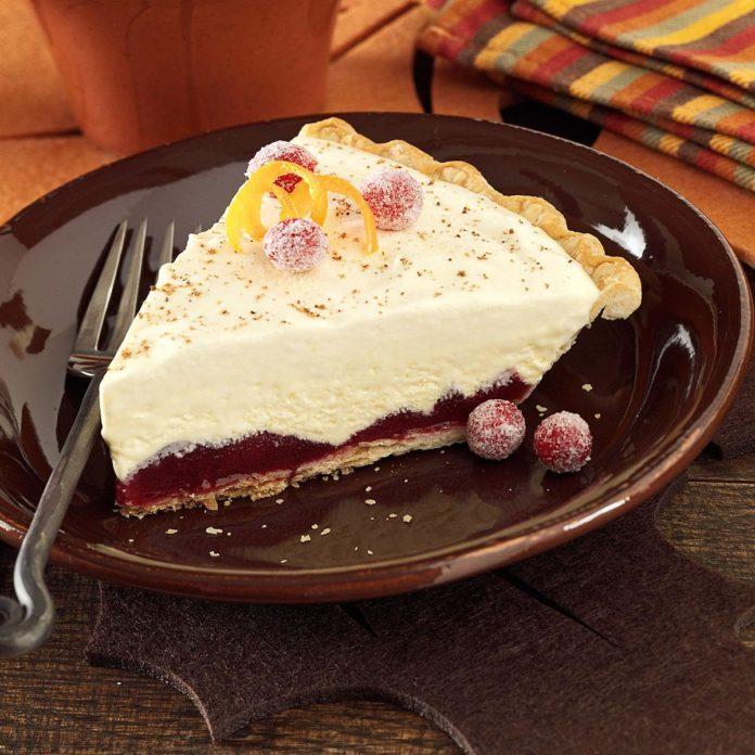 Creamy Cranberry Ice Cream Pie