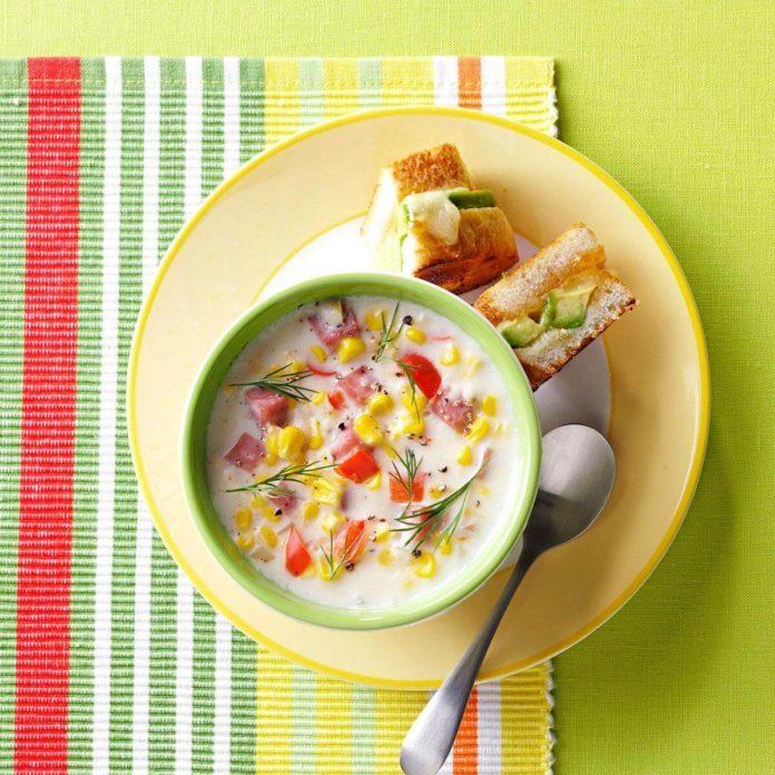 Creamy Ham & Corn Soup