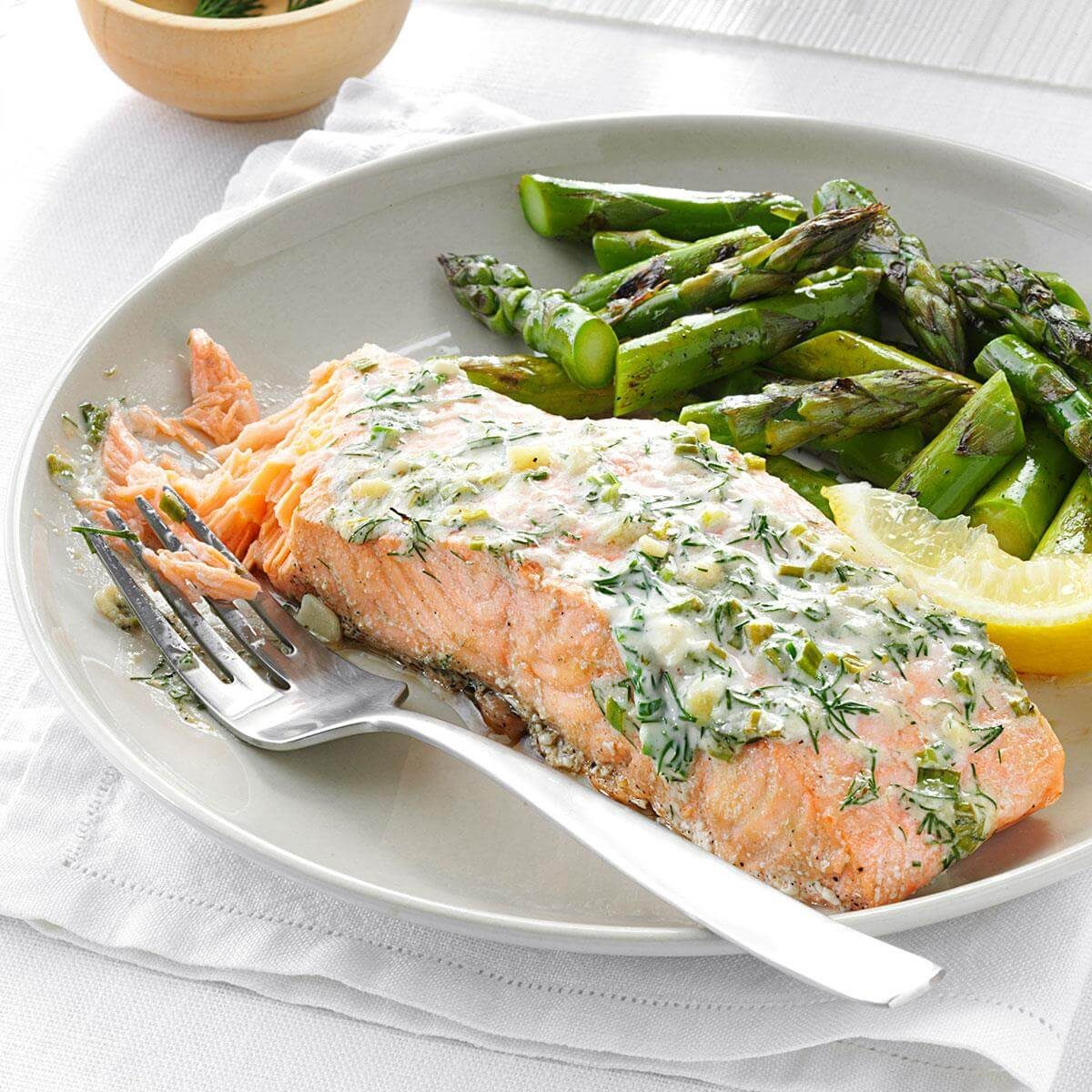 Recipes Salmon: Creamy Herb Grilled Salmon Recipe