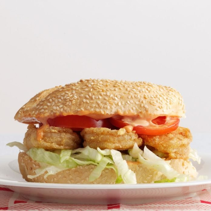 Creole-Spiced Shrimp Po'Boys