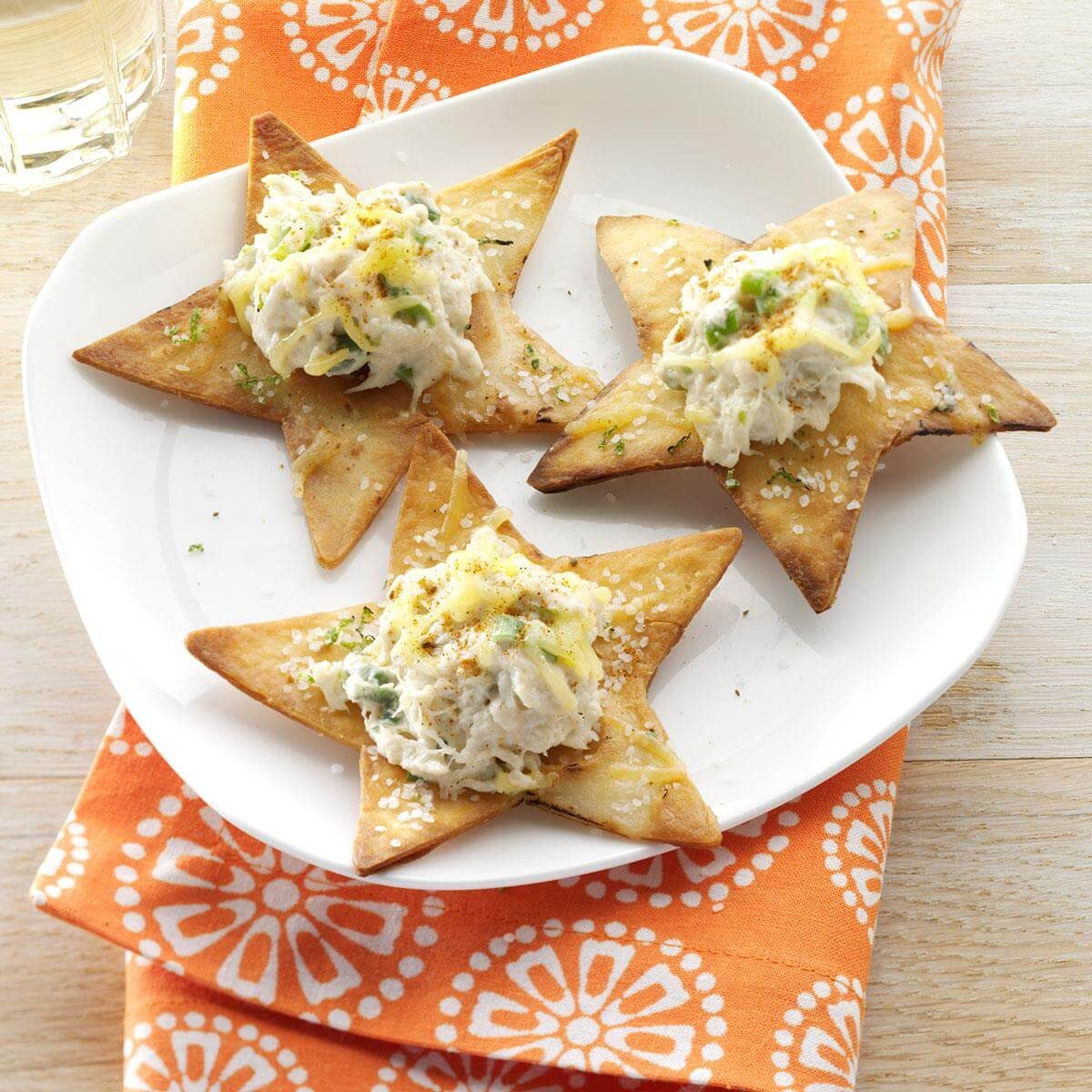 Crispy Lime Chips with Crab