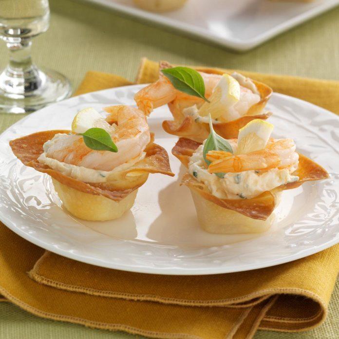 Crispy Shrimp Cups