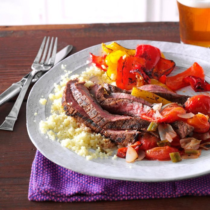 Thursday's Dinner: Cumin-Chili Spiced Flank Steak
