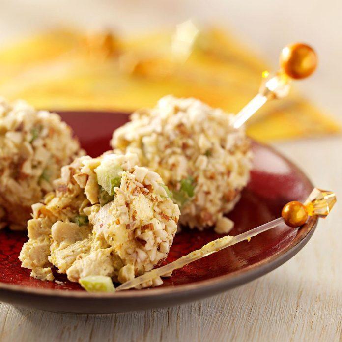 Curried Chicken Balls Appetizer