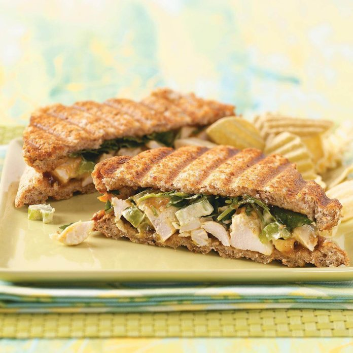 Curried Chicken Paninis