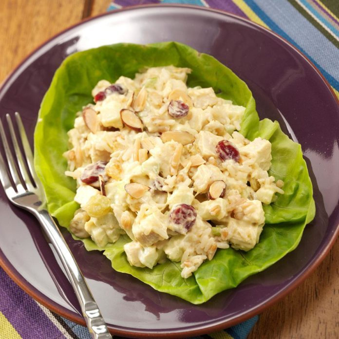Curried Chicken Rice Salad