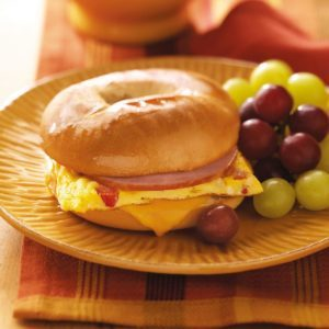 Dad's Quick Bagel Omelet Sandwich