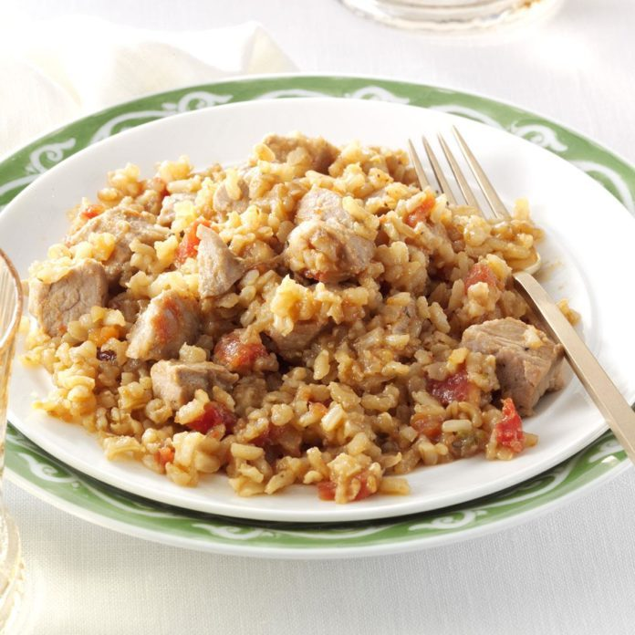 Double-Duty Pork with Spanish Rice