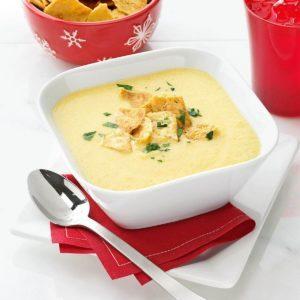 Garlicky Cheddar Cheese Bisque