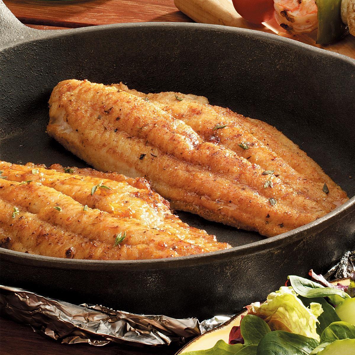 Skillet Grilled Catfish Recipe Taste Of Home
