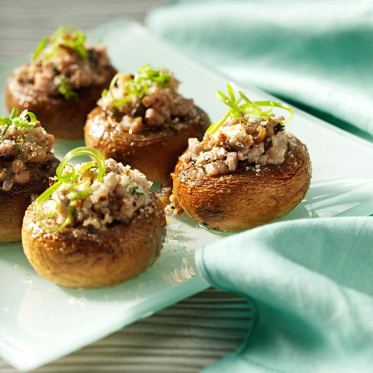 Easy Italian Desserts For A Crowd: Potluck Sausage-Stuffed Mushrooms