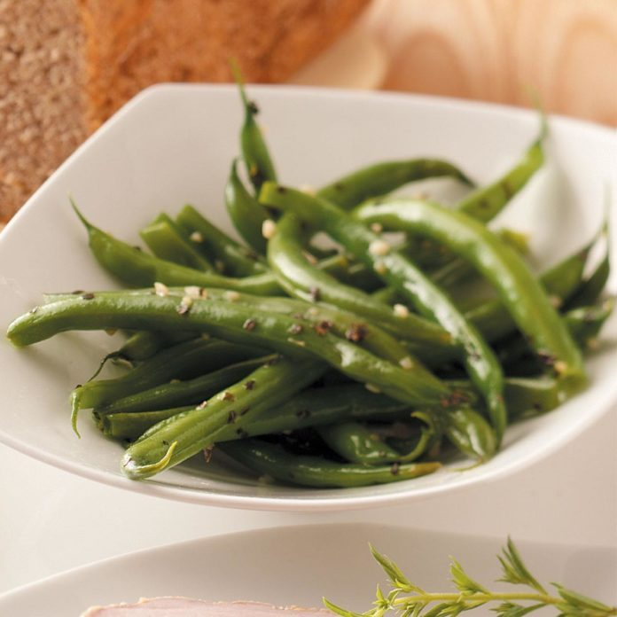 Basil-Garlic Green Beans