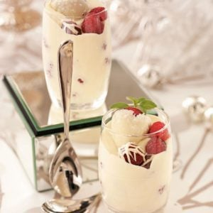 Berries with Champagne Cream