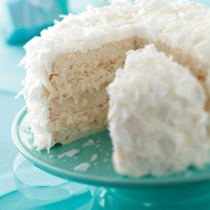 White Chocolate Coconut Cake