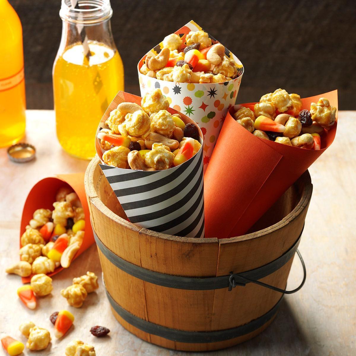 halloween snack mix recipe taste of home. Black Bedroom Furniture Sets. Home Design Ideas