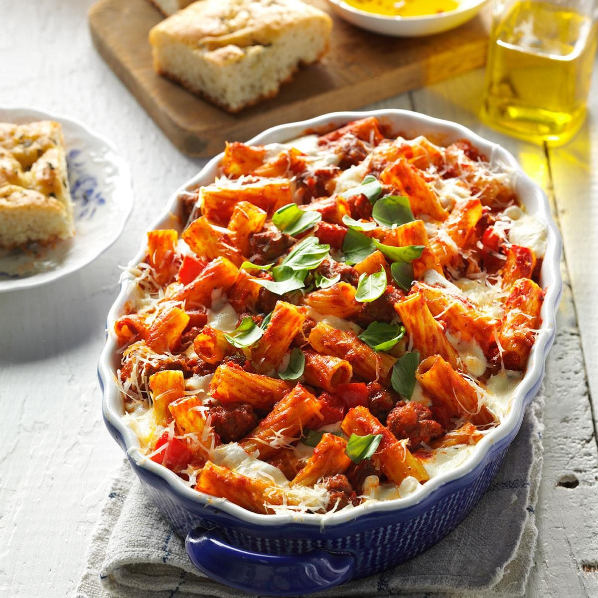 Good Dinner Recipes For 4: Four-Cheese Sausage Rigatoni Recipe