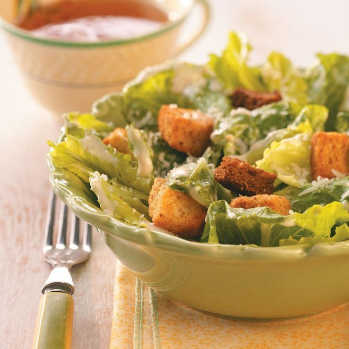 How to make an awesome caesar salad