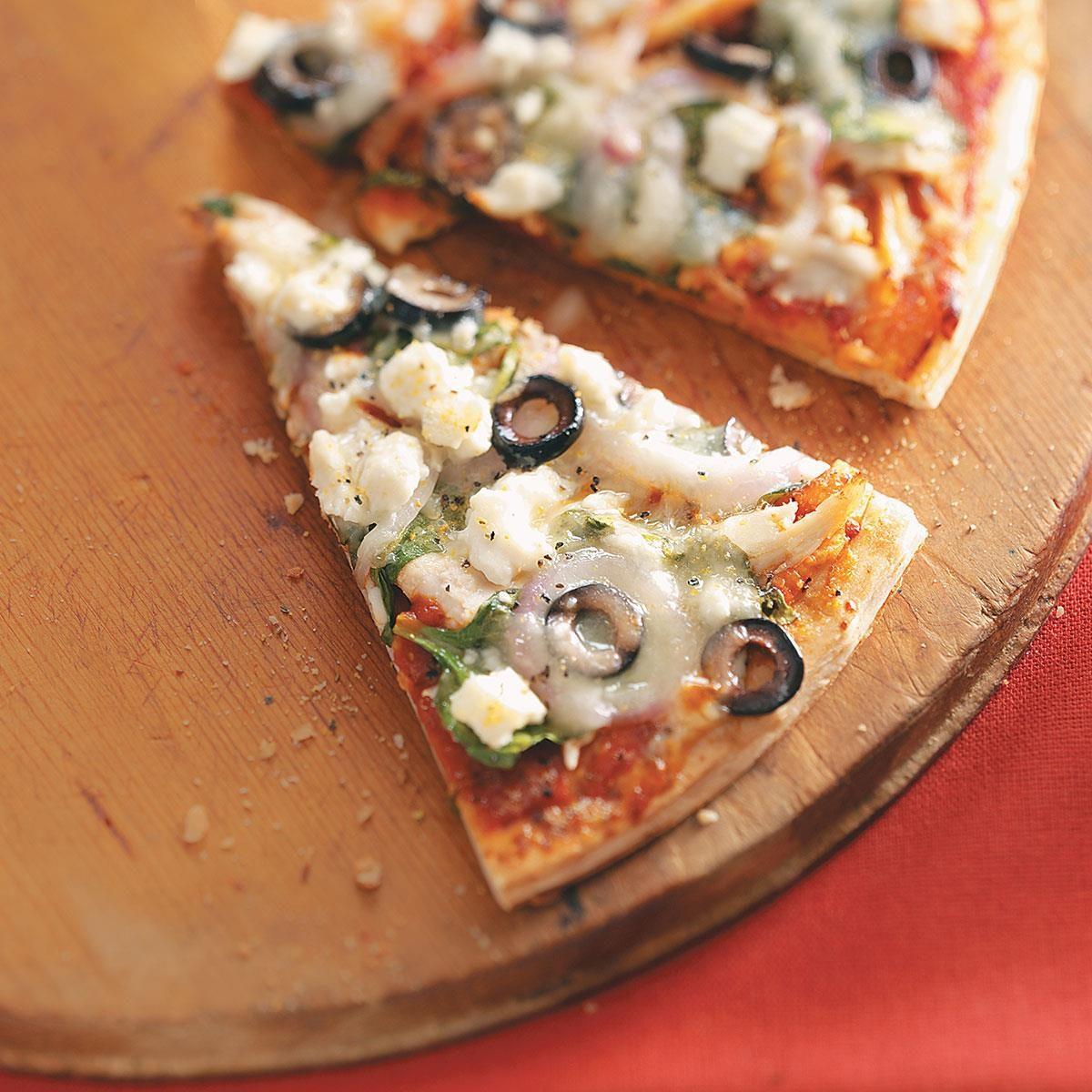Easy greek pizza recipe taste of home forumfinder Gallery