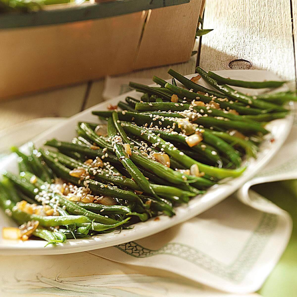 Easy Sesame Green Beans Recipe