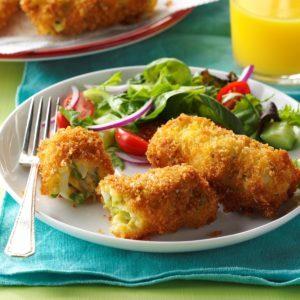 Egg & Asparagus Breakfast Croquettes