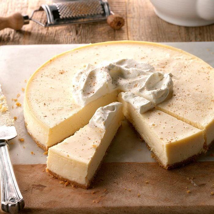 Eggnog cheesecake