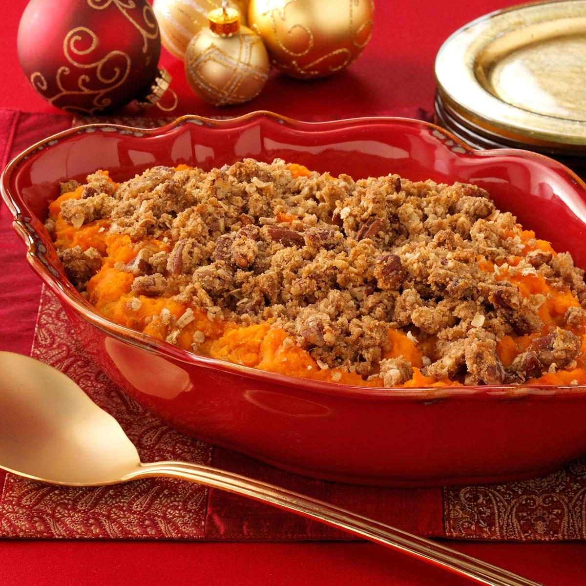 Eggnog Sweet Potato Casserole Recipe Taste Of Home