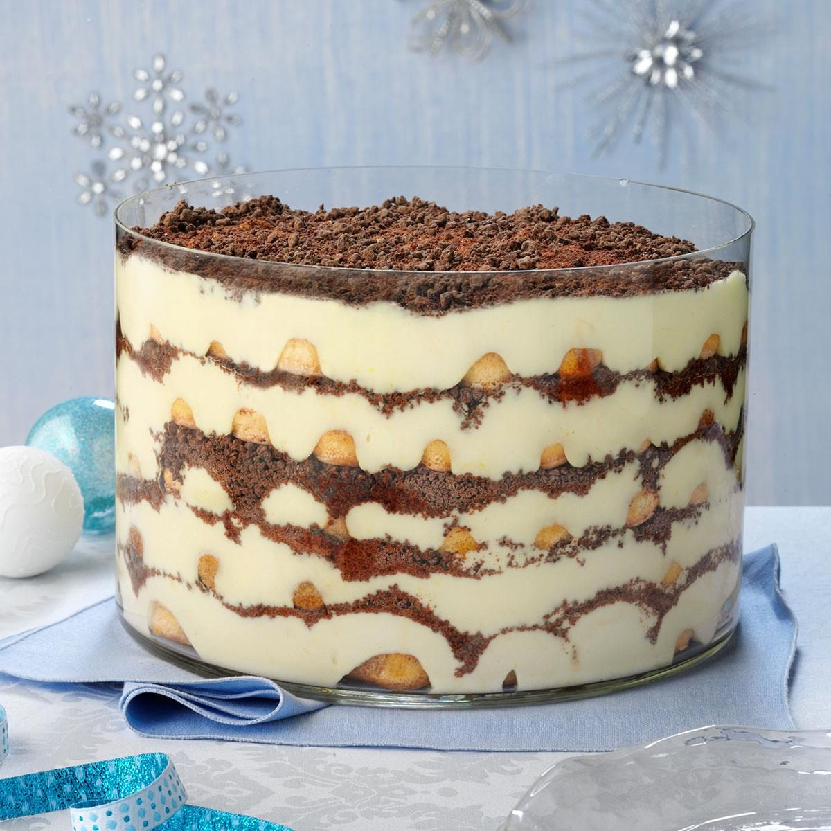 Eggnog Tiramisu Trifle Recipe