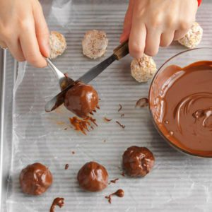 This Simple Trick Will Make Chocolate-Dipped Treats Extra-Smooth