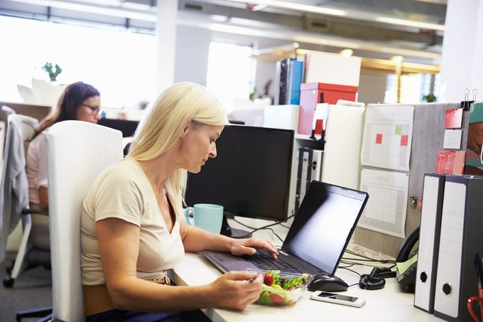 Can a Working Lunch Make You Sick?