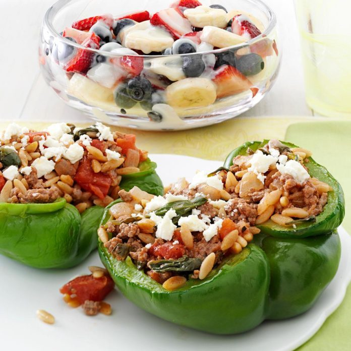 Feta Stuffed Peppers