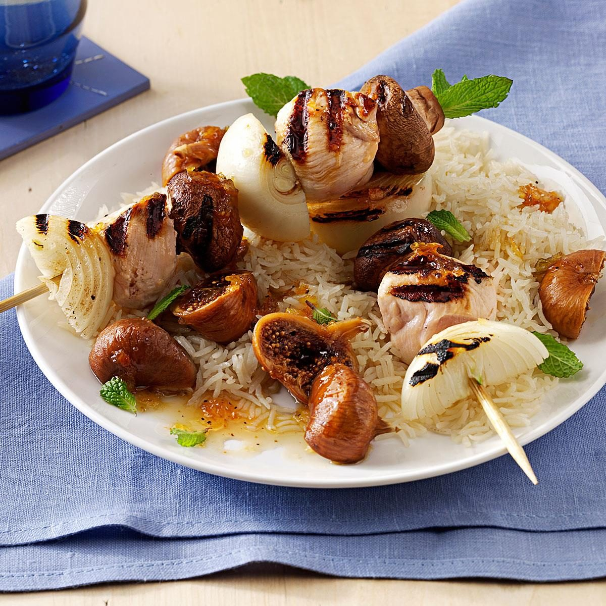 Fig & Wine-Sauced Chicken Kabobs