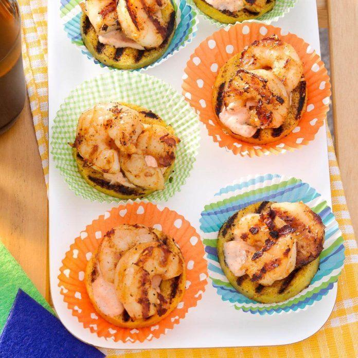 Fired-Up Polenta Shrimp Rounds
