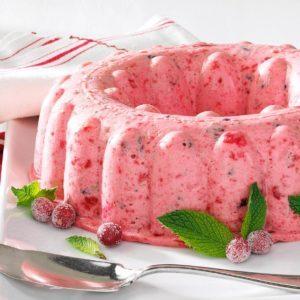 Fluffy Cranberry Mousse