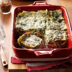Four-Cheese Spinach Lasagna
