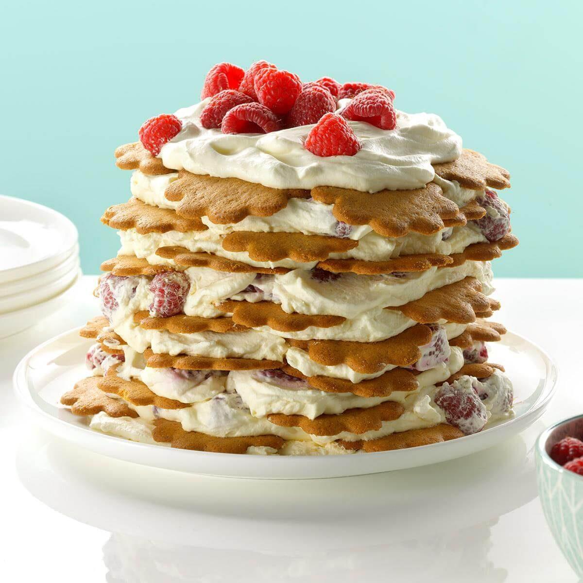 Fresh Raspberry Icebox Cake Recipe