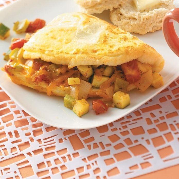Fresh Vegetable Omelet