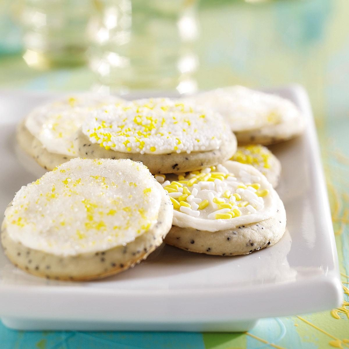 Frosted Poppy Seed Cookies
