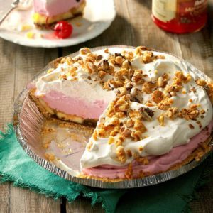 Frozen Banana Split Pie