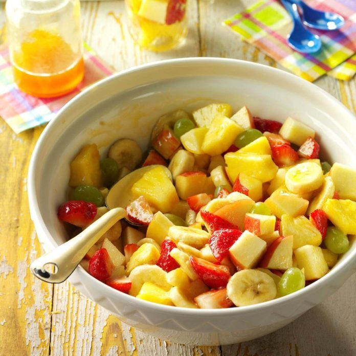 Fruit Salad with Apricot Dressing