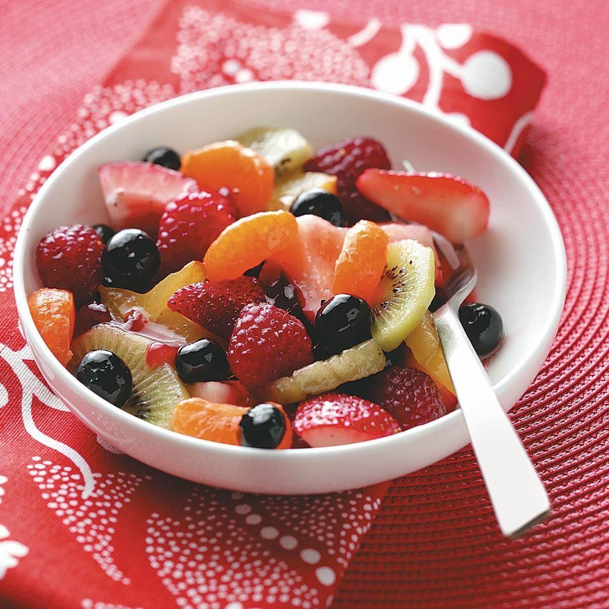 Fruit Salad with Raspberry Vinaigrette