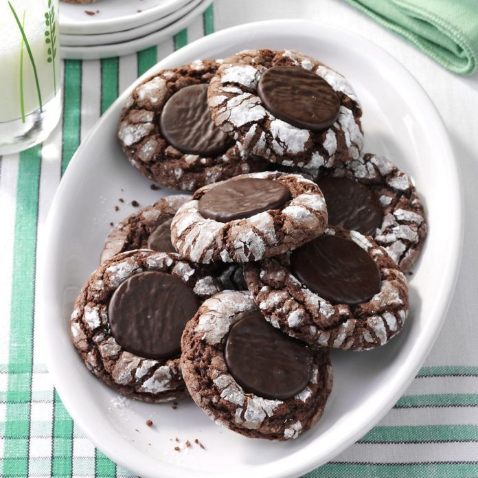 Fudgy Mint Cookies