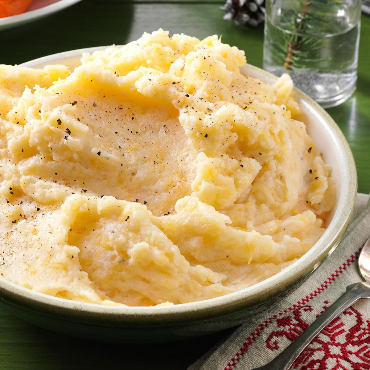 Garlic-Mashed Rutabagas & Potatoes Recipe