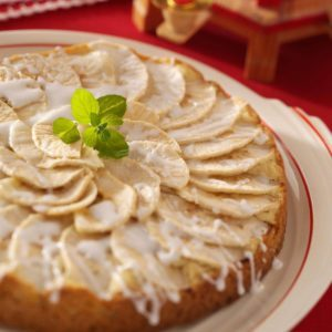 German Apple Cake with Sweet Drizzle
