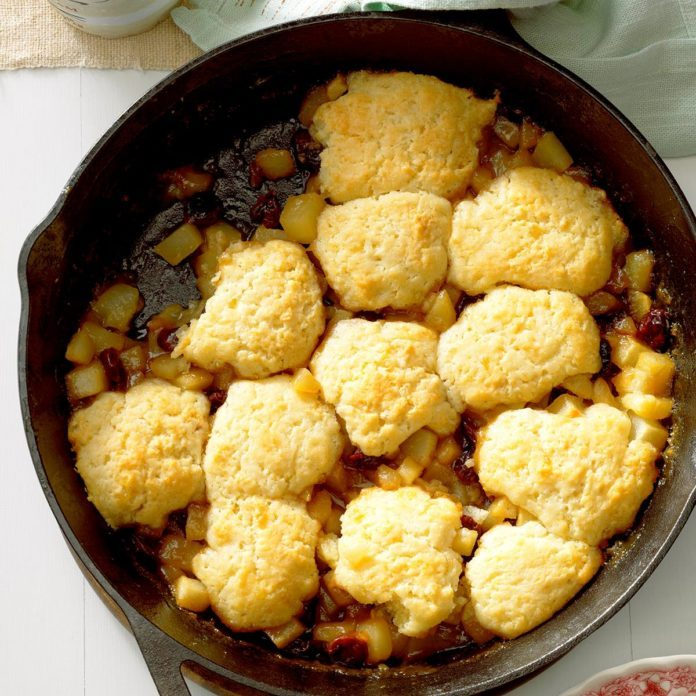 Gingered Cherry Pear Cobbler